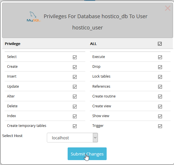 Privilegi database