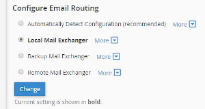 e-mail routing cpanel spamexperts