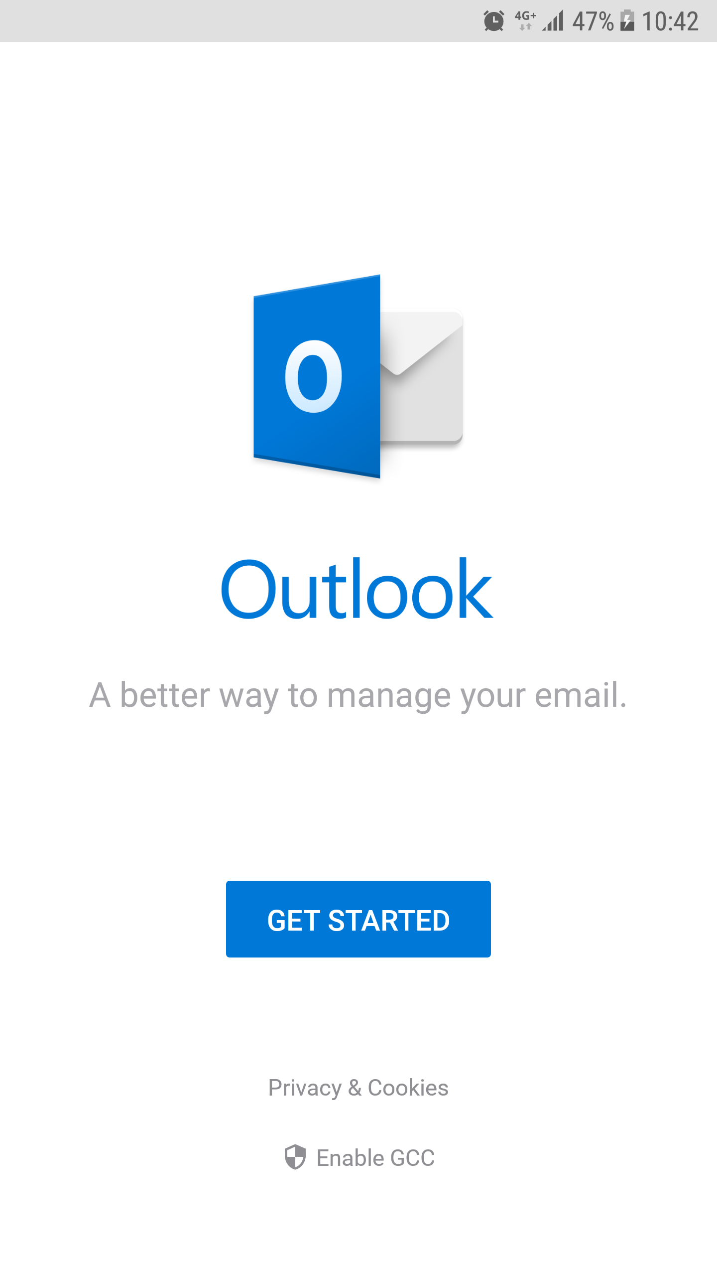 Get Started outlook