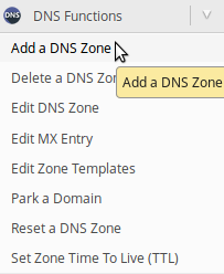 Add DNS Zone WHM