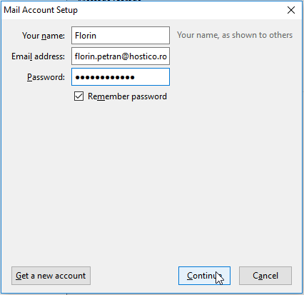Mail Account Setup Thunderbird