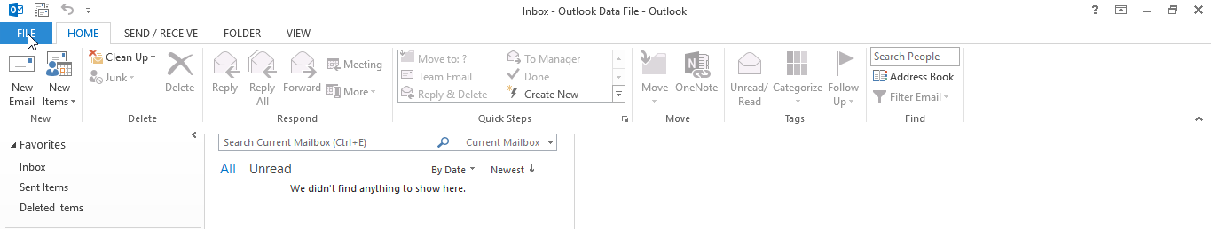 Add Account e-mail Outlook